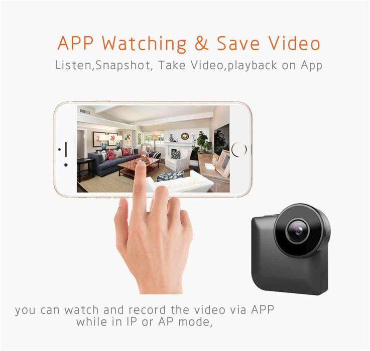 Camsoy Smart Life Mini Home Security Camera C3 - Black 12 month warranty applies Tech Outlet