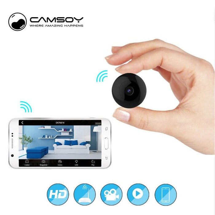Camsoy Intelligent Mini Home Security Camera C2 with Bluetooth Wirless & Night Vision - Black 12 month warranty applies Tech Outlet