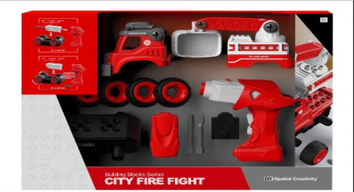 RC Truck DIY Construction Set - City Fire Truck 3 month warranty applies Tech Outlet