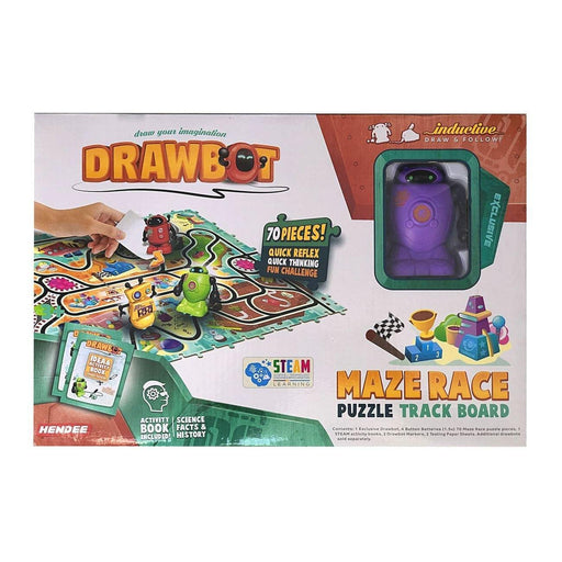Drawbot Robot Builder with 70 Piece Puzzle