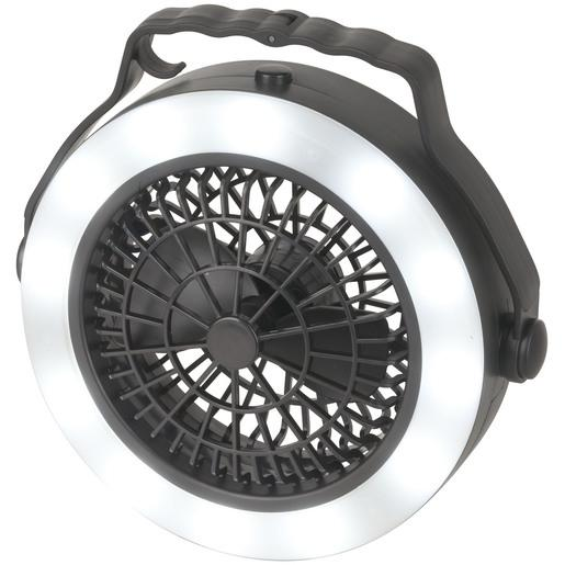 Camping Fan 6500 RPM with built-in Camping Lantern 12 month warranty applies Tech Outlet