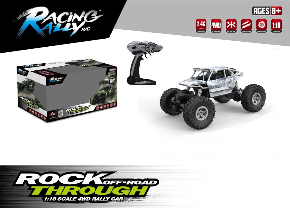 HB Toys Rock Crawler RC 4WD Off Roader Car Silver