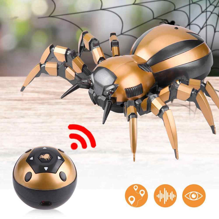 Mechanical Remote Control Spider: with Flashing eyes and lifelike sounds