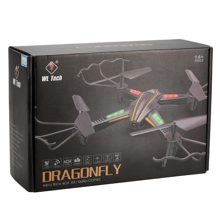 WL Toys DRAGONFLY Q616 Drone with WIFI & Camera 3 month warranty applies Tech Outlet