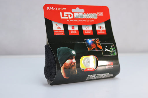 LED Beanie PLUS with High Bright Output 250 Lumen & Twin Bulb 12 month warranty applies JCMatthew