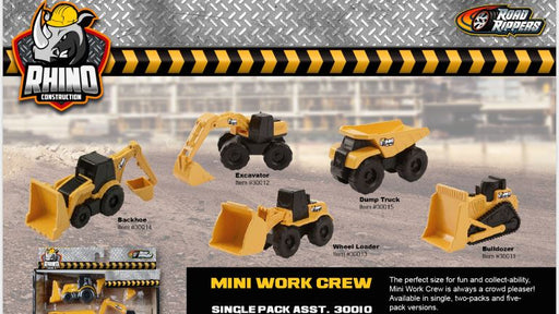 "RHINO Mini Machines 3""/8cm - Twin Pack Assorted 3 month warranty applies Nikko"