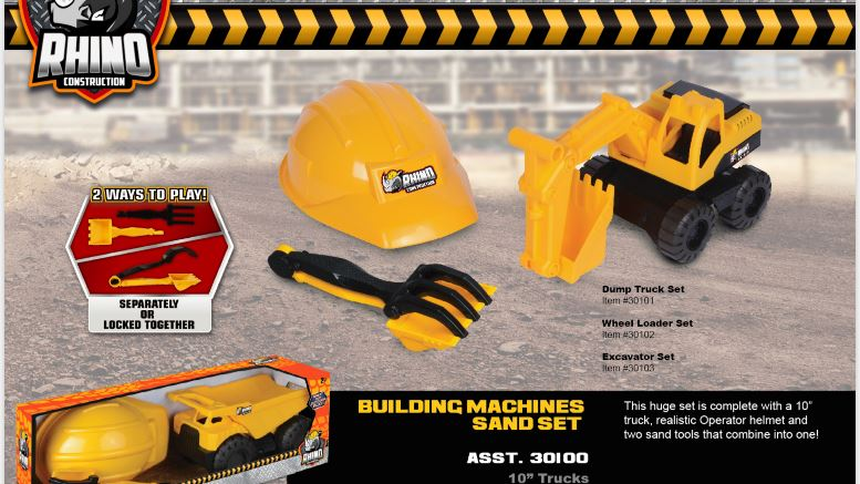 "RHINO Building Machines Sand Set 10"" - Single Pack 3 month warranty applies Nikko"