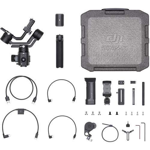 DJI Ronin SC Pro Combo 3-Axis Gimbal Stabilizer Holds Mirrorless Cameras, One-Handed Operation