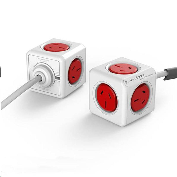 Powercube - RED Power Cable 1.5M 5x Power ONLY SURGE