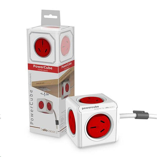 Powercube - RED Power Cable 1.5M 5x Power ONLY SURGE 12 month warranty applies Tech Outlet