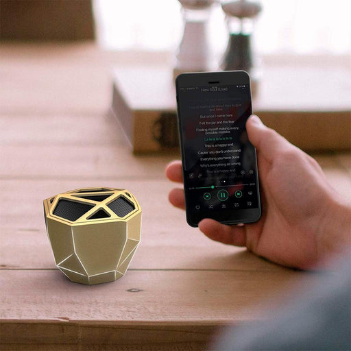 Xoopar GEO Wireless Bluetooth Speaker : Gold