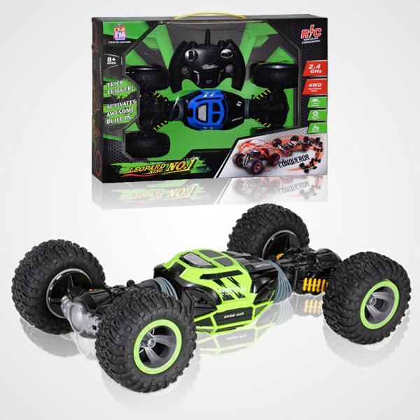 MONSTER OFFROAD Transforming HYPER Car 1:16 Size - GREEN 3 month warranty applies Tech Outlet