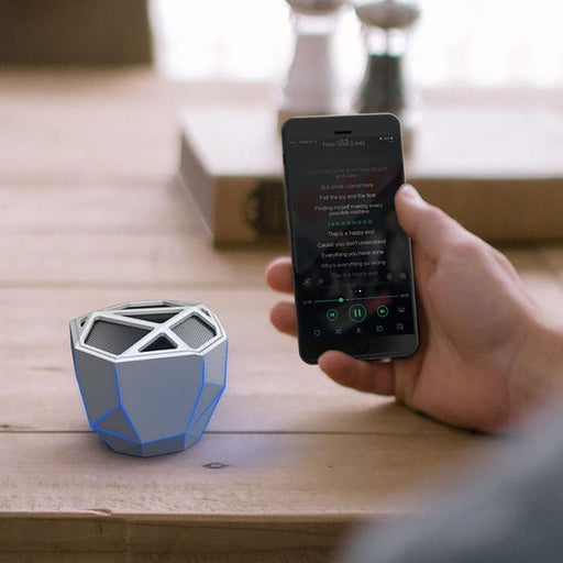 Xoopar GEO Wireless Bluetooth Speaker : Silver