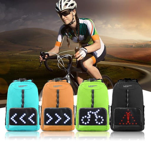 Lightweight Cycling Backpack with LED Lighting indicators