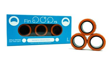 Fin Gears - Magnetic finger rings skill toy (Large)