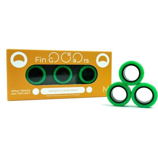 Fin Gears - Magnetic finger rings skill toy (Medium) 3 month warranty applies Tech Outlet