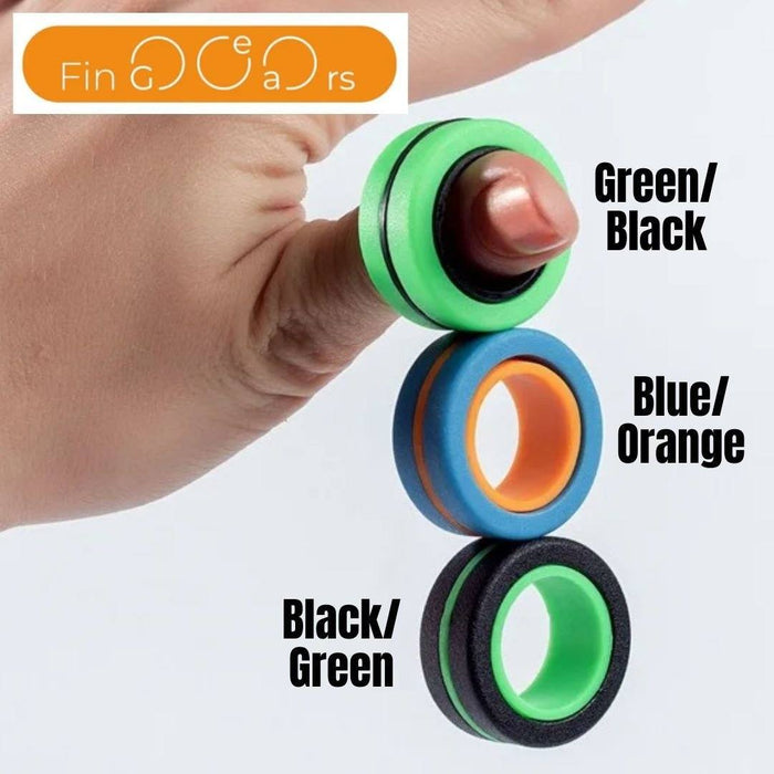 Fin Gears - Magnetic finger rings skill toy (Large) 3 month warranty applies Tech Outlet