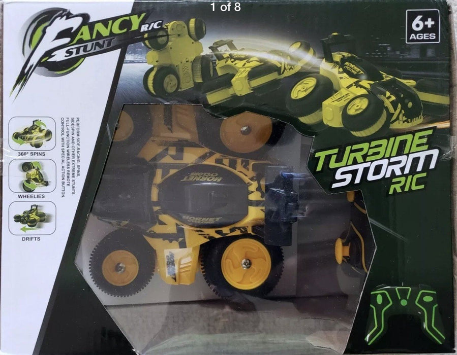 HB Toys Turbo Storm RC Stunt Car (yellow) 3 month warranty applies Tech Outlet