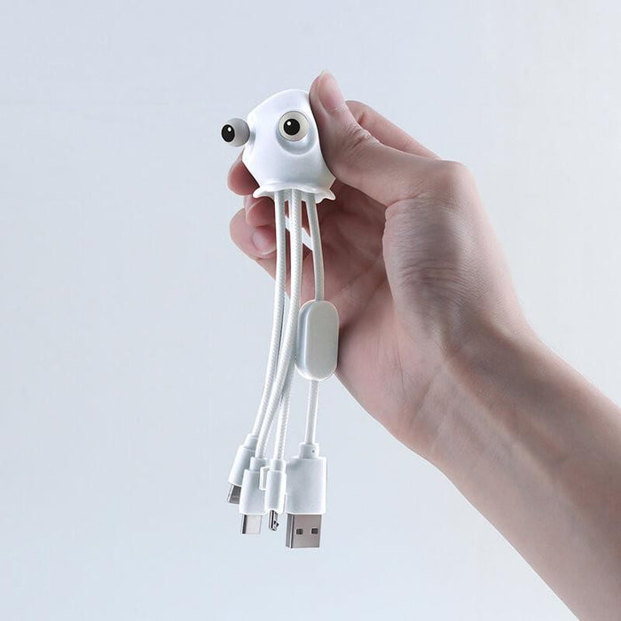 Xoopar Jelly Mini: Anti-Stress Multi-cable - All-in-one Charging Solution (in Grey Colour) 12 month warranty applies Xoopar