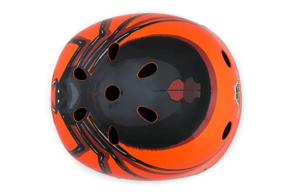 Mini Hornit LIDS Children's Bicycle & Scooter Helmet with Flashing Safety Lights - Spider Style