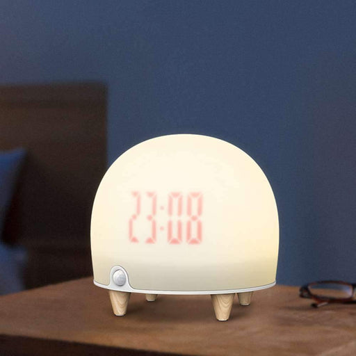 Soft touch bedside light & alarm clock