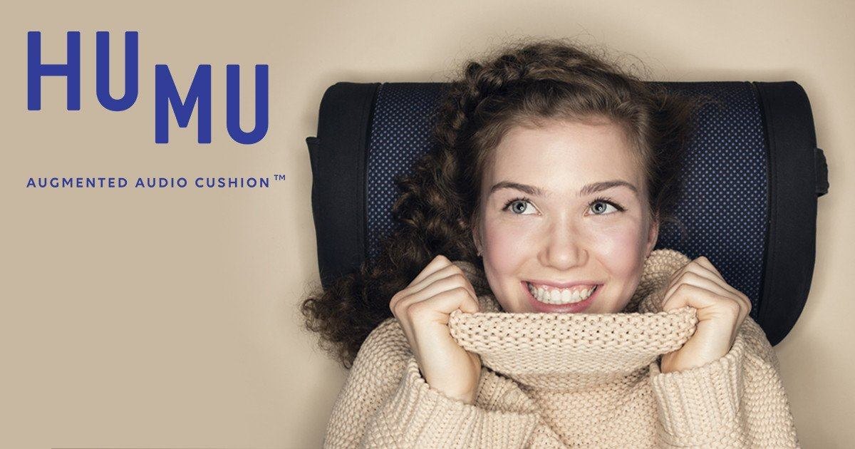 HU MU Surround Sound Audio Cushion : Don't just hear the sound, feel it!