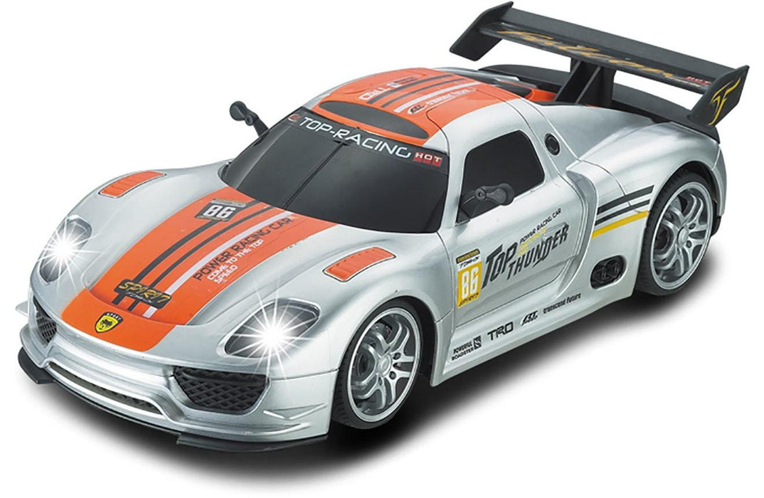 Silver Porsche RC Touring Car : Large 1:12 Size