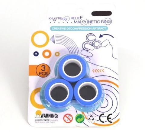 Stress Relief Magnetic Rings BLUE (Medium)