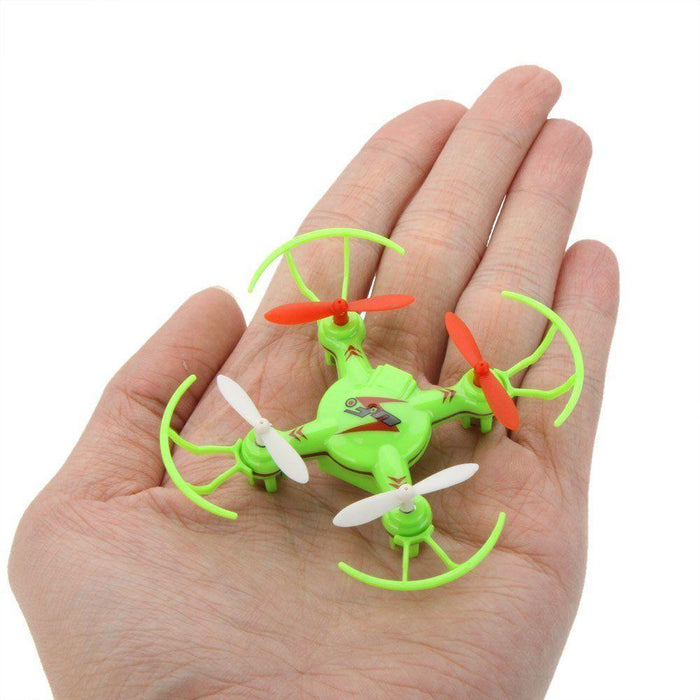 V646 Mini Drone with propellor protectors - Green 3 month warranty applies Tech Outlet