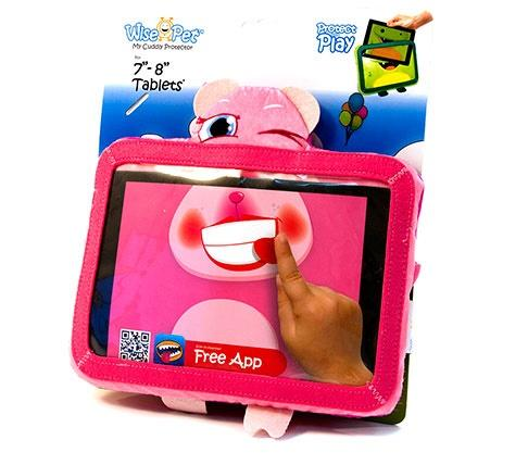 "Wise Pets Soft & Cuddly Tablet Protector for Kids - For Tablets 7""- 8"" ROSY 3 month warranty applies Tech Outlet"