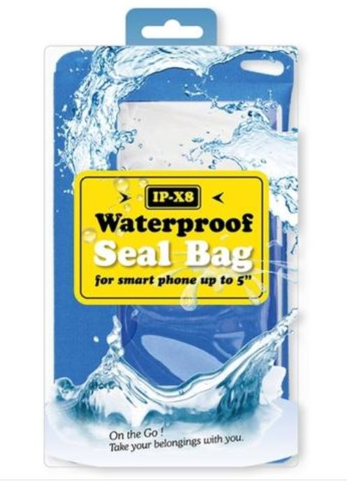 "Waterproof Seal Bag for Smartphones upto 5"" (RED) 12 month warranty applies Tech Outlet"