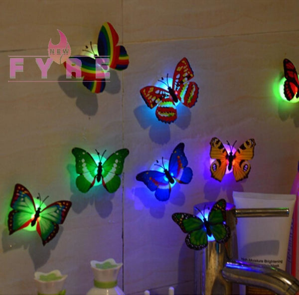 Led 3D Butterfly Wall Lights (10 Pieces) Home & Kitchen