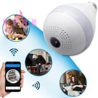 Light Bulb Wireless Wifi Security Fisheye Camera