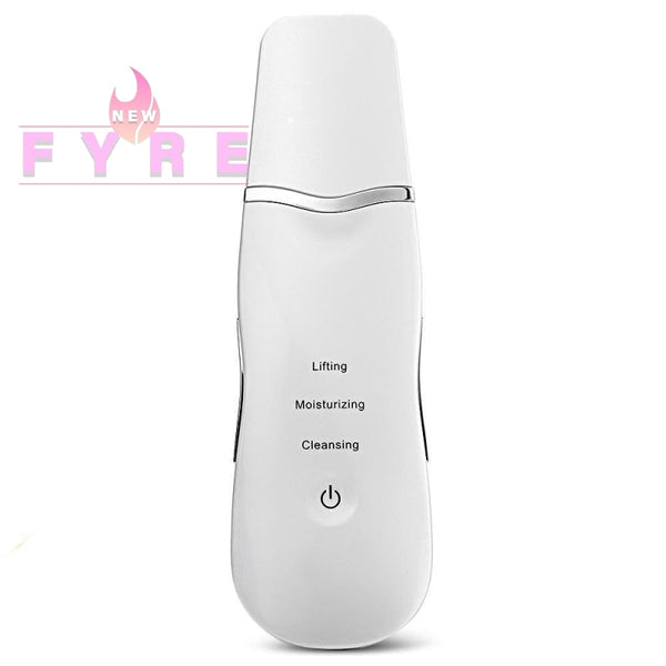 Ultrasonic Face Skin Scrubber Spatula Milk White
