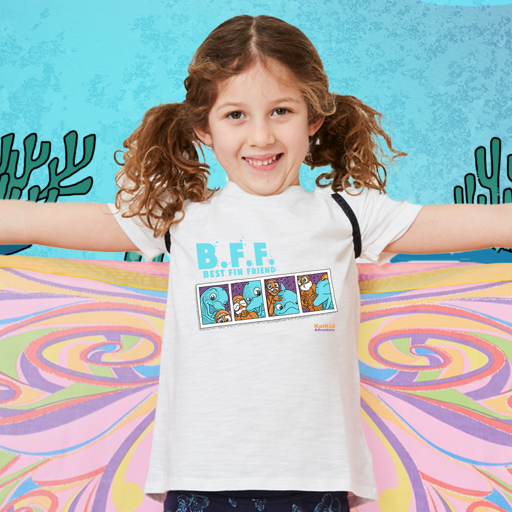 Best Fin Friend Kat Kid Tee