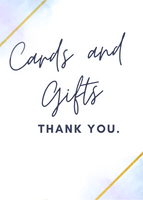 Cards & Thank You Signage - Blue