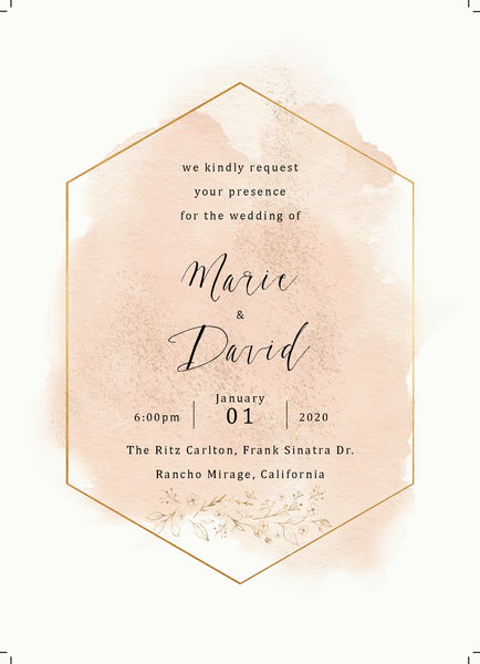 Blush and Gold Wedding Suite