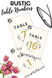 Rustic With A Twist - Table Numbers
