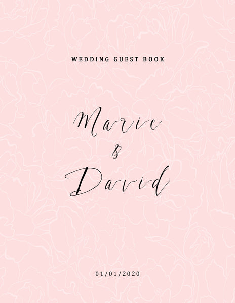 Freebie Blush Wedding Book Cover