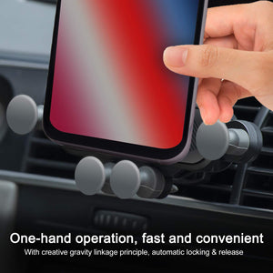 Gravity Car Phone Holder With Air Vent Clip