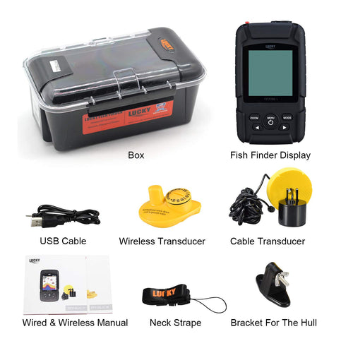 2019 LUCKY Fish Finder FF718LiC Wireless and Wired Fish finder Fishing Sonar