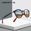 MERRY'S DESIGN Men Women Classic Retro Rivet Polarized Sunglasses TR90 Legs Lighter Design Oval Frame UV400 Protection S'8126