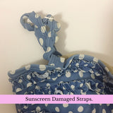 Sunscreen damaged Straps