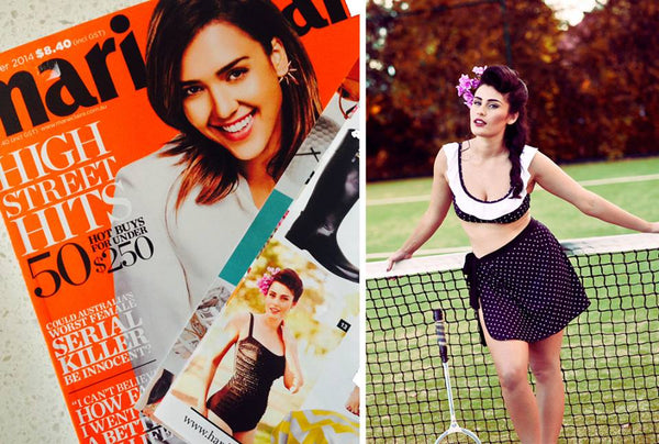 Sirens swimwear features in the 'hard to find' section of Marie Claire