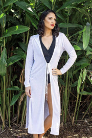 Sirens Swimwear Carly Beach Coat | Crisp White R17-Carl-WTE-S-M