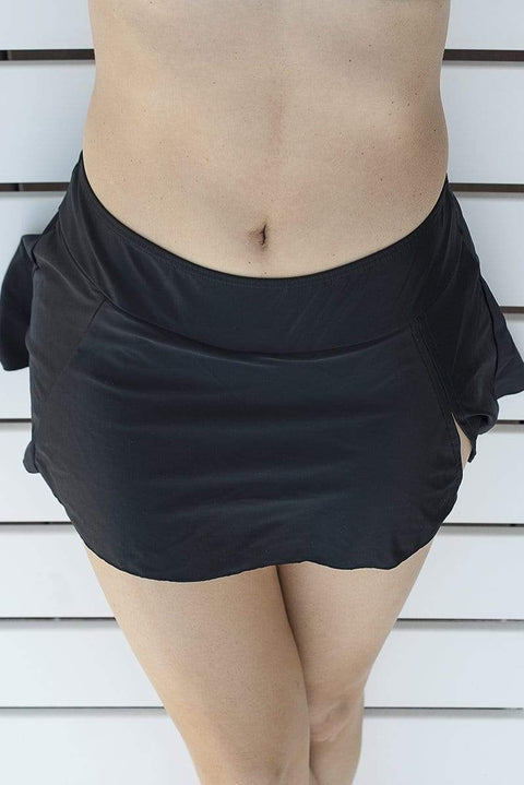 Sirens Swimwear Chrissy Skirt Bottom | Classic Black S17-Chris-BLK-S