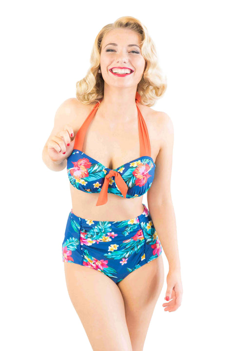 Sirens Swimwear Didi Bikini Bottom | Beachside Bloom S18-Didi-BLO-B08