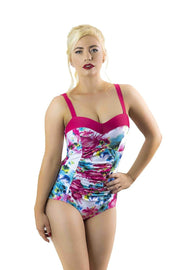 Sirens Swimwear Lizzie Swimsuit | Seaside Rose S17-Lizz-ROS-08