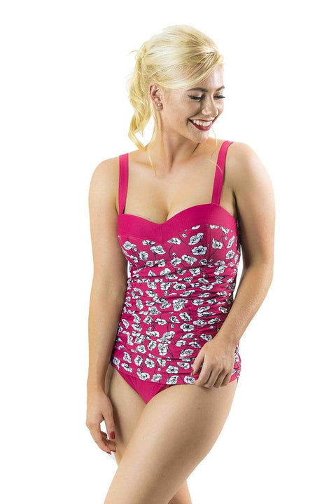 Sirens Swimwear Mindy Tankini Bottom | Poppy Red S17-Mind-RED-B08