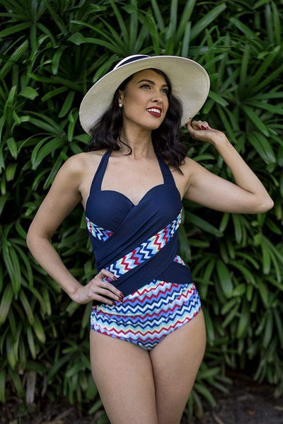 Sirens Swimwear Wynn Wrap | Chevron Sunset S17-Wynn-SUN-08